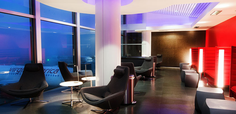 You can simply pay for access to Virgin America's LAX Loft.