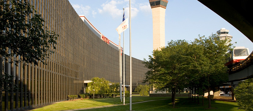 The Hilton Chicago O'Hare Airport.