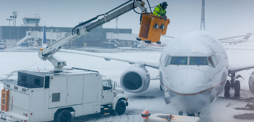 winter airport snow featured