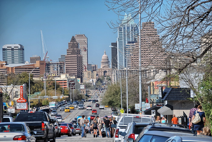 Austin traffic is a lot more manageable when left to Uber or Lyft drivers. Photo courtesy of Shutterstock.