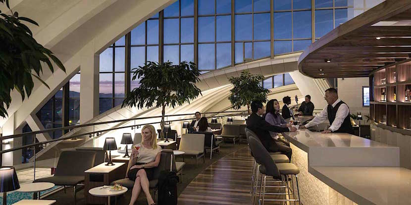 The Star Alliance lounge at LAX has an outdoor terrace and a balcony overlooking the concourse.