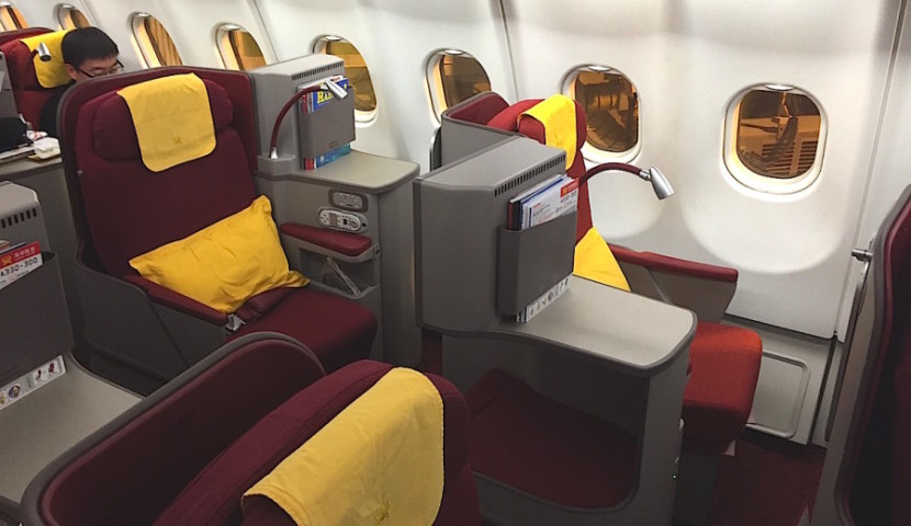 A view of the side seats.