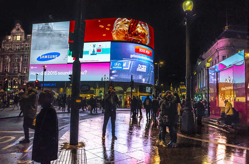 Piccadilly Circus. Image courtesy of Kofi Lee-Berman.