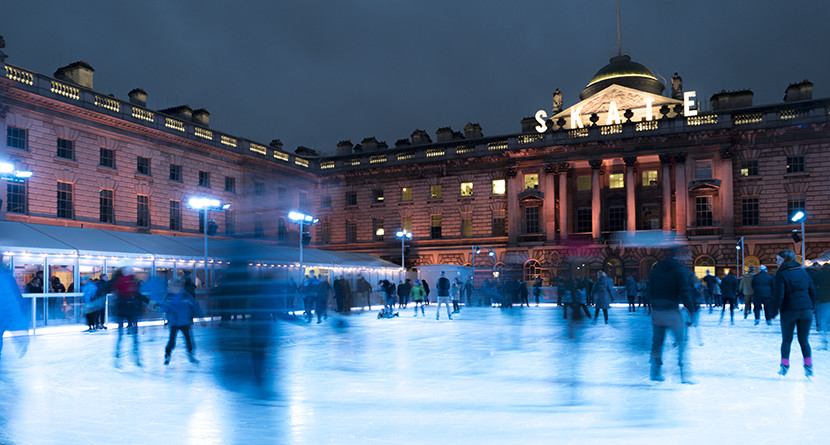 Ice skating at London's Somerset House. Image courtesy of Kofi Lee-Berman.