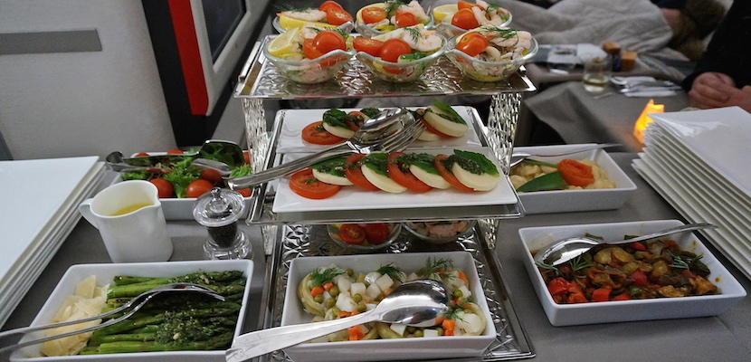 Turkish Airlines canapé trolley in business class
