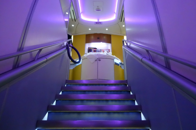 Thai's first-class cabin is located at the front of the upper deck.