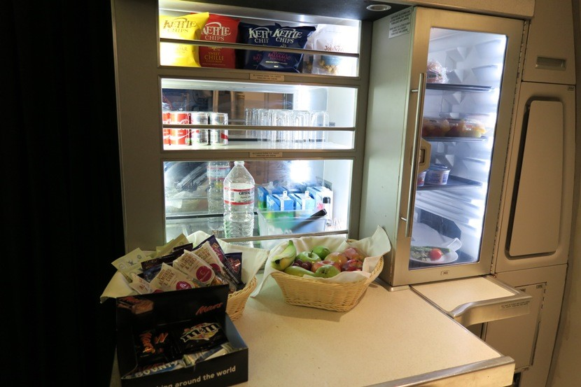 "There is a wide selection of snacks available at the ""Club Kitchen"" if you are hungry between meals."