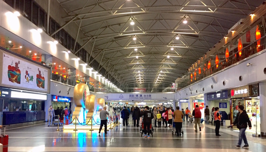 how to get from international airport terminal to domestic terminall