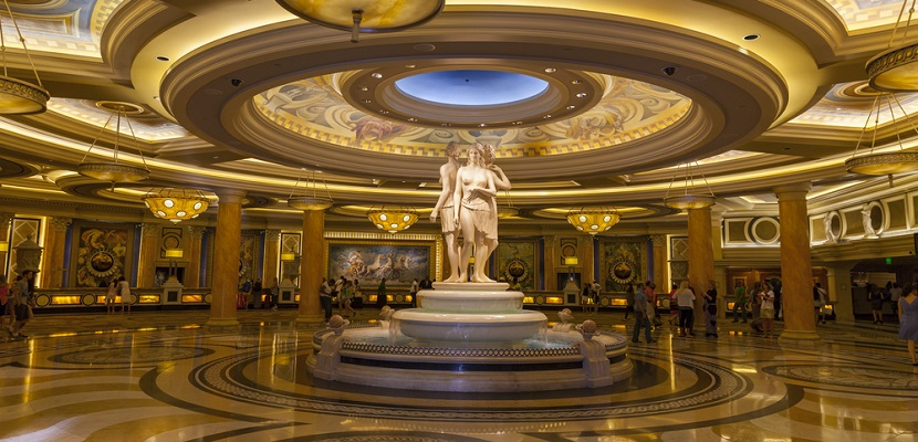 Caesars Palace lobby Las Vegas featured shutterstock 144082576
