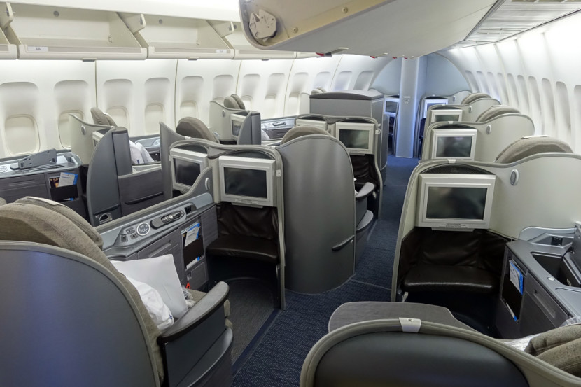 United has 12 seats in first class.