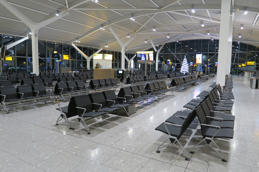 LHRTerminal 5C's gates were remarkably empty this time of night.