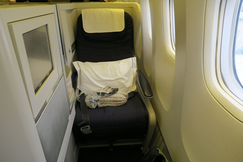 My window seat (14K) for the flight back to AUS.