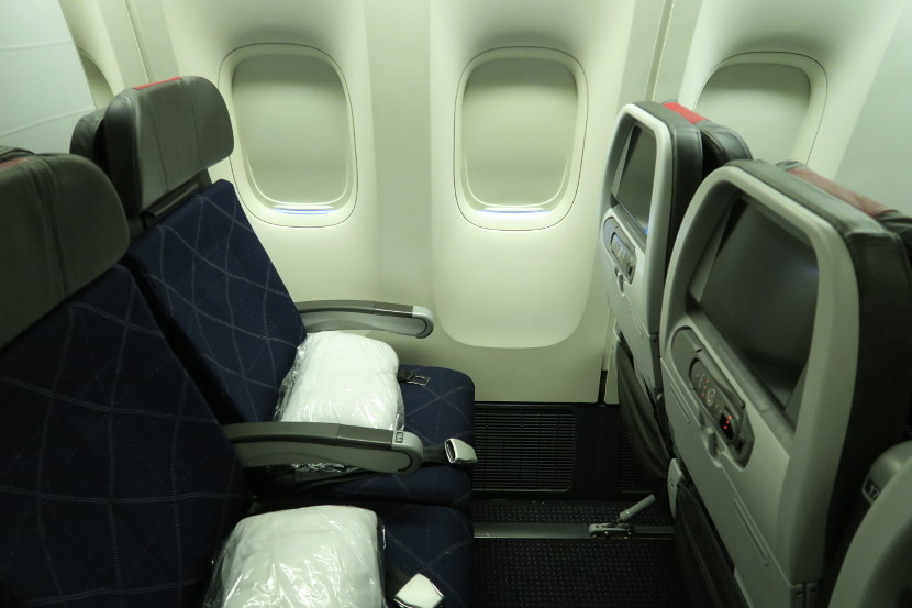 There was plenty of leg room in the Main Cabin Extra seats.