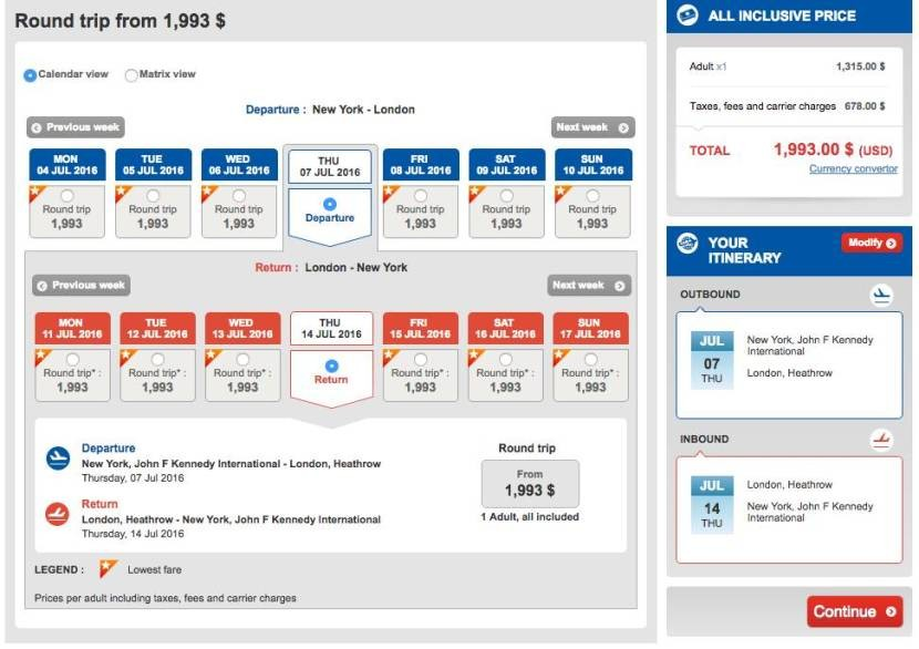 New York (JFK) to London (LHR) for $1,993 in Turkish business class.