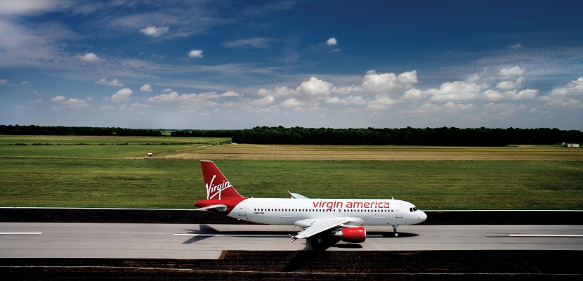Virgin America Plane on Runway featured