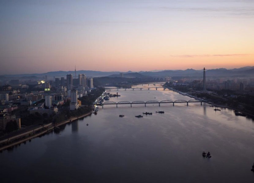 River in North Korea