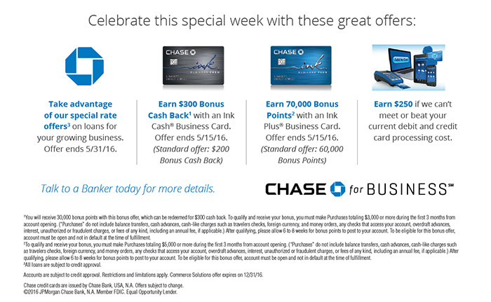 70k sign up bonus for the ink plus business card in branch current chase offers include an elevated ink plus sign up bonus when you apply at reheart