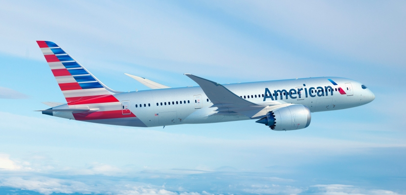 American Airlines AA 787 Dreamliner featured from AA's multimedia library