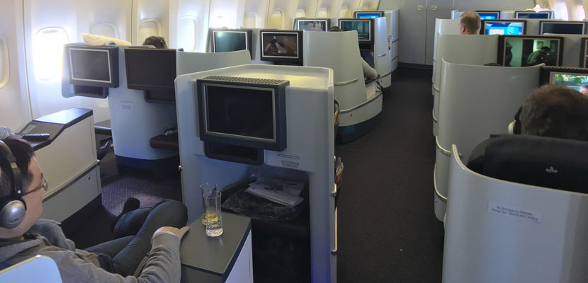 Business-Class Cabin in KLM 747.