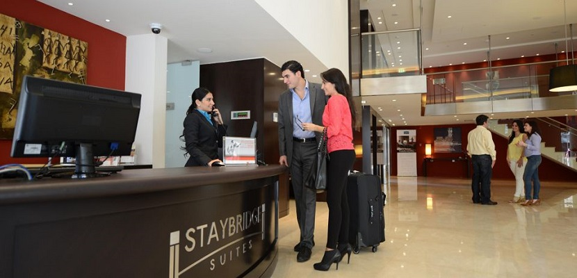 Staybridge Suites Beirut IHG front desk featured