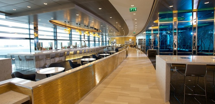 The United Club lounge in London.