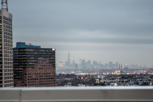 A view of lower Manhattan from the Hotel Indigo Newark Downtown.