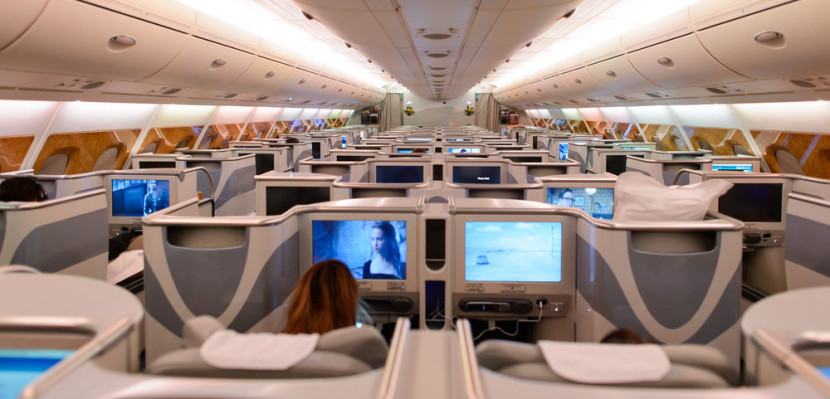 A sneak peek of Emirates Business-Class.